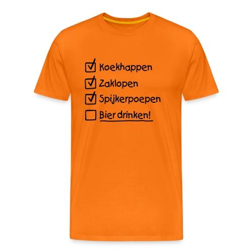 Koningsdag To do list T-shirt - Mannen Premium T-shirt