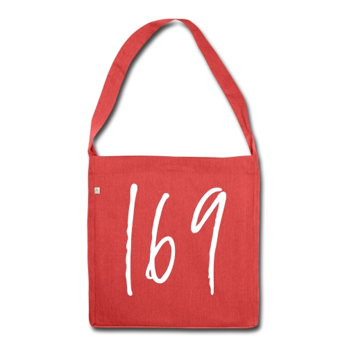 169 Red Recycled Tote Bag - Shoulder Bag made from recycled material