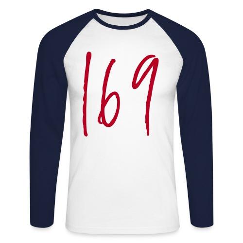 169 Blue Baseball Shirt - Men's Long Sleeve Baseball T-Shirt