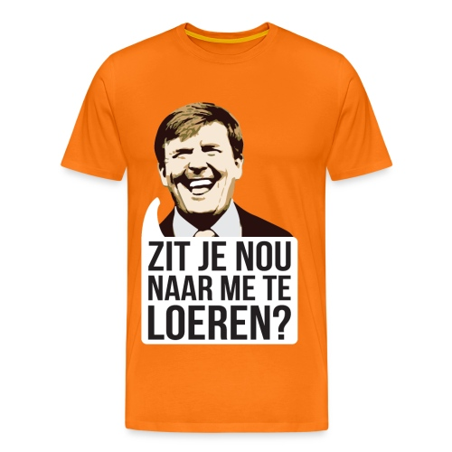 Grappig Willy Koningsdag T-shirt - Mannen Premium T-shirt