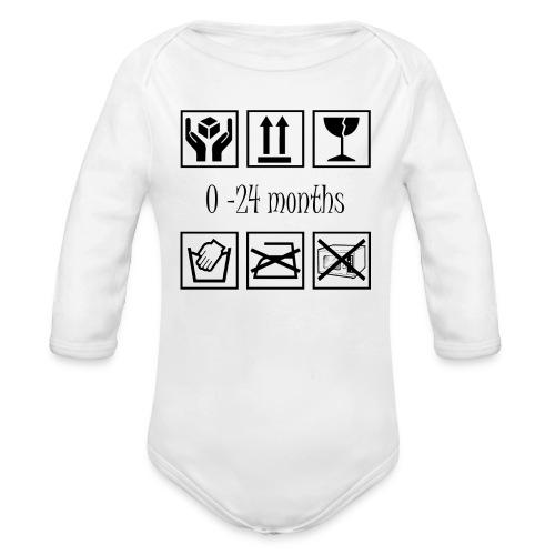 Baby intructions - Ekologisk långärmad babybody