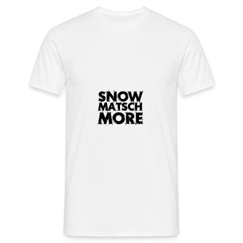 Snow Matsch More - T-Shirt Männer weiß/schwarz - Männer T-Shirt