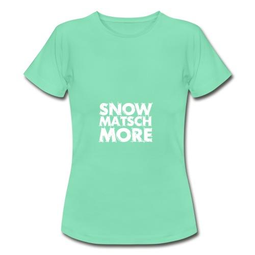 Snow Matsch More - T-Shirt Frauen mint/weiß - Frauen T-Shirt