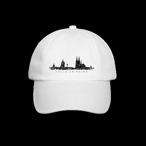 Kölle am Rhing Skyline (Vintage Schwarz) Köln Baseballkappe - Baseballkappe