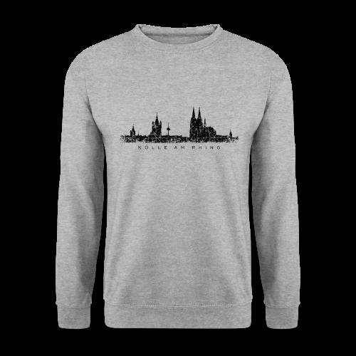 Kölle am Rhing Skyline (Vintage Schwarz) Köln Pullover - Männer Pullover