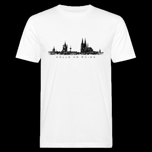 Kölle am Rhing Skyline (Vintage Schwarz) Köln Bio T-Shirt - Männer Bio-T-Shirt