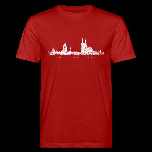 Kölle am Rhing Skyline (Vintage Weiß) Köln Bio T-Shirt - Männer Bio-T-Shirt