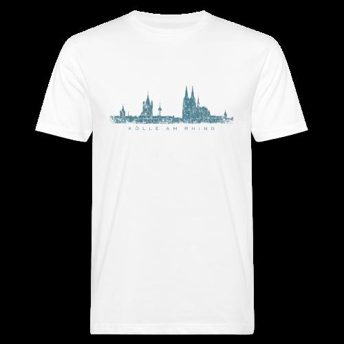 Kölle am Rhing Skyline (Vintage Blau) Köln Bio T-Shirt - Männer Bio-T-Shirt