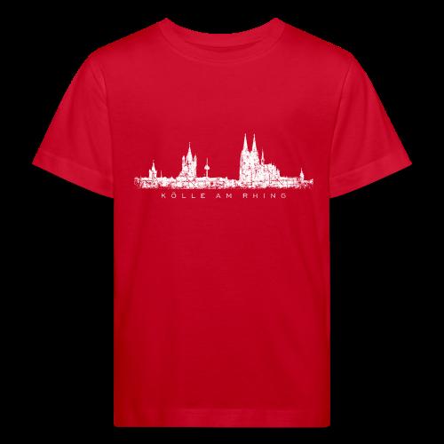 Kölle am Rhing Skyline (Vintage Weiß) Köln Kinder Bio T-Shirt - Kinder Bio-T-Shirt