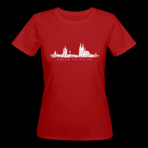 Kölle am Rhing Skyline (Vintage Weiß) Köln Bio T-Shirt - Frauen Bio-T-Shirt