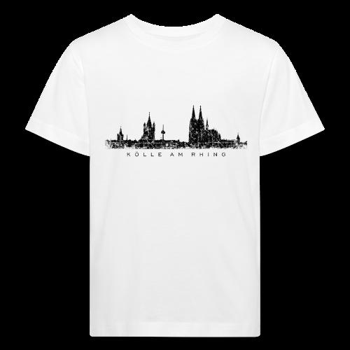 Kölle am Rhing Skyline (Vintage Schwarz) Köln Kinder Bio T-Shirt - Kinder Bio-T-Shirt
