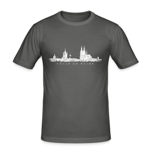 Kölle am Rhing Skyline (Vintage Weiß) Köln Slim Fit T-Shirt - Männer Slim Fit T-Shirt