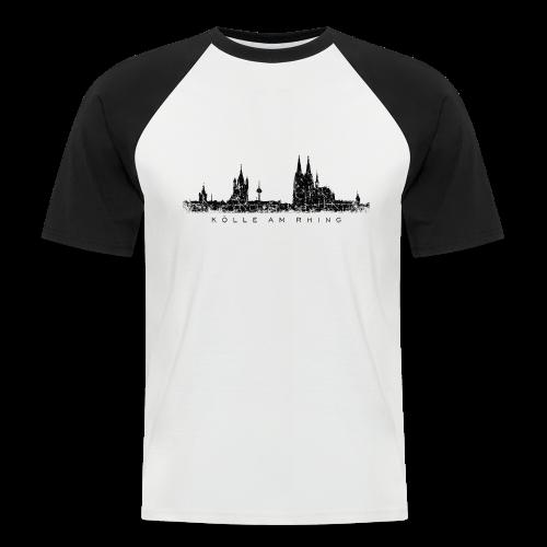 Kölle am Rhing Skyline (Vintage Schwarz) Köln Baseball T-Shirt - Männer Baseball-T-Shirt