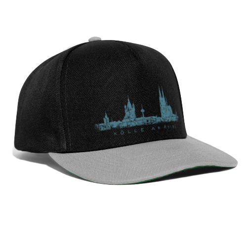 Kölle am Rhing Skyline (Vintage Blau) Köln Baseballkappe - Snapback Cap