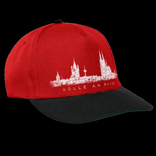 Kölle am Rhing Skyline (Vintage Weiß) Köln Baseballkappe - Snapback Cap