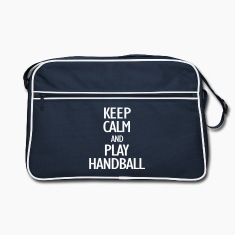 keep calm and play handball Bags & Backpacks