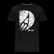 T-Shirts ~ Männer Premium T-Shirt ~ bleistift logo grunge weiss