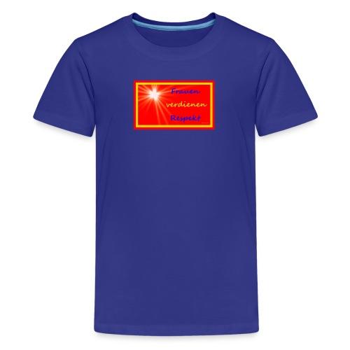 Frauenshirt blau stern - Teenager Premium T-Shirt