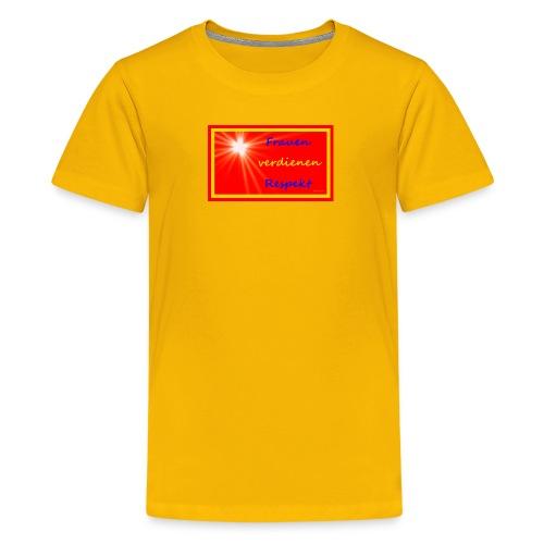 Frauenshirt gelb rot Stern - Teenager Premium T-Shirt