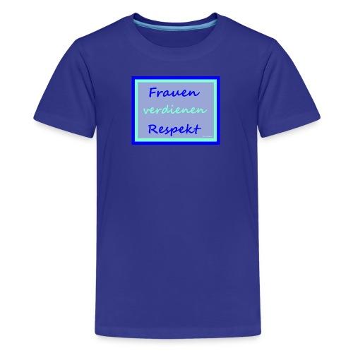 Frauenshirt blau bleu - Teenager Premium T-Shirt