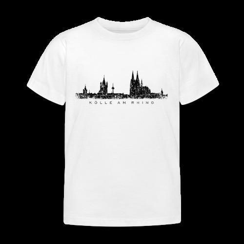 Kölle am Rhing Skyline (Vintage Schwarz) Köln Kinder T-Shirt - Kinder T-Shirt