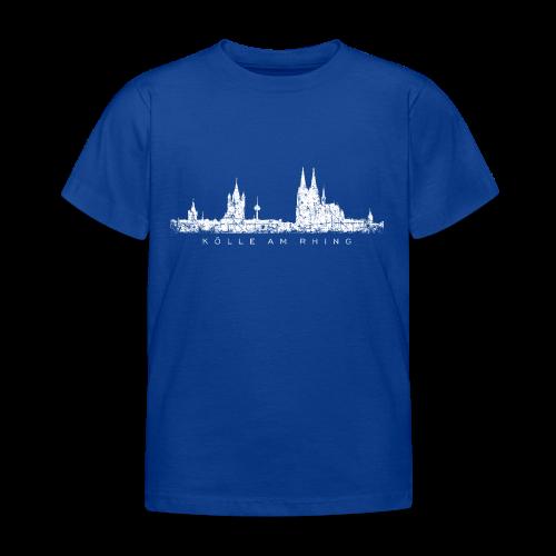 Kölle am Rhing Skyline (Vintage Weiß) Köln Kinder T-Shirt - Kinder T-Shirt