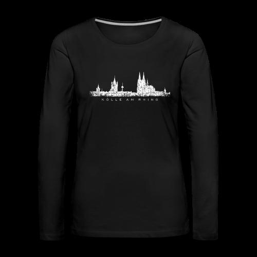 Kölle am Rhing Skyline (Vintage Weiß) Langarmshirt - Frauen Premium Langarmshirt