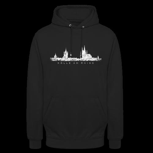 Kölle am Rhing Skyline (Vintage Weiß) Köln Hoodie - Unisex Hoodie