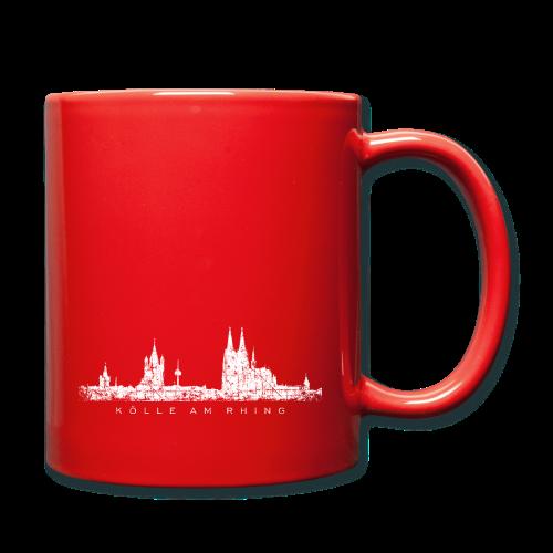 Kölle am Rhing Skyline (Vintage Weiß) Köln Tasse - Tasse einfarbig