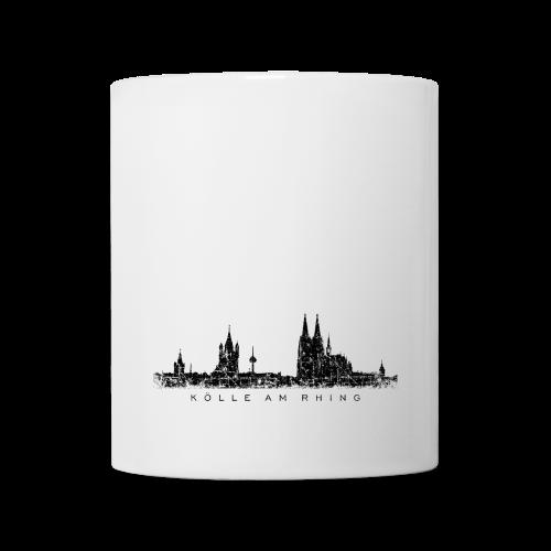 Kölle am Rhing Skyline (Vintage Schwarz) Köln Tasse - Tasse