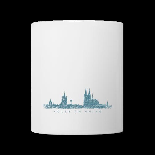 Kölle am Rhing Skyline (Vintage Blau) Köln Tasse - Tasse