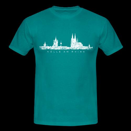 Kölle am Rhing Skyline (Vintage Weiß) Köln T-Shirt - Männer T-Shirt