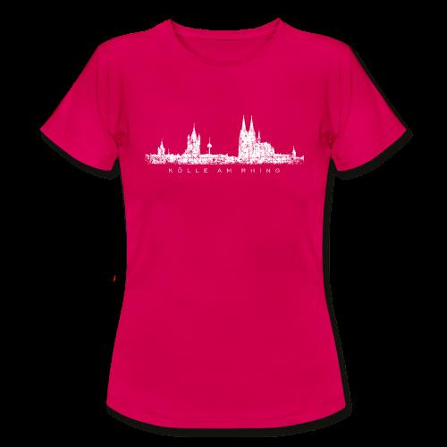 Kölle am Rhing Skyline (Vintage Weiß) Köln T-Shirt - Frauen T-Shirt