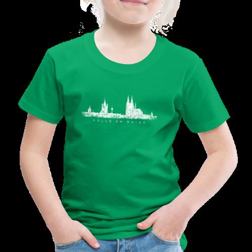 Kölle am Rhing Skyline (Vintage Weiß) Köln Kinder T-Shirt - Kinder Premium T-Shirt