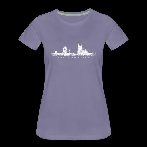 Kölle am Rhing Skyline (Vintage Weiß) S-3XL Köln T-Shirt - Frauen Premium T-Shirt