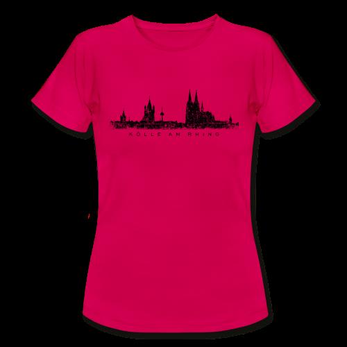 Kölle am Rhing Skyline (Vintage Schwarz) Köln T-Shirt - Frauen T-Shirt