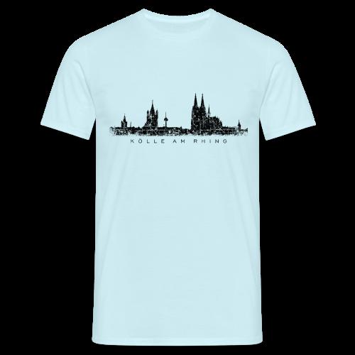 Kölle am Rhing Skyline (Vintage Schwarz) Köln T-Shirt - Männer T-Shirt