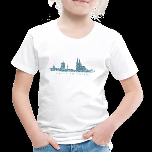 Kölle am Rhing Skyline (Vintage Blau) Kinder T-Shirt - Kinder Premium T-Shirt