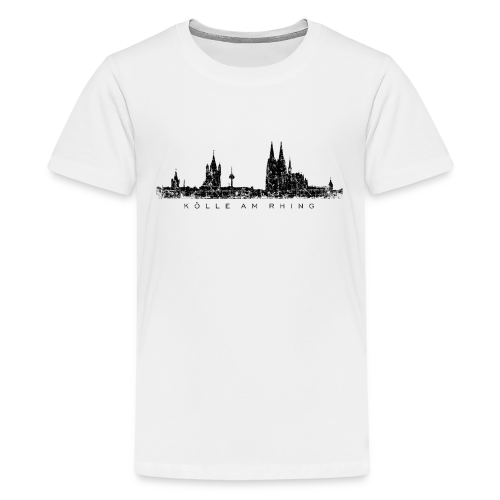 Kölle am Rhing Skyline (Vintage Schwarz) Köln Teenager T-Shirt - Teenager Premium T-Shirt