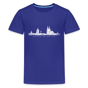 Kölle am Rhing Skyline (Vintage Weiß) Köln Teenager T-Shirt - Teenager Premium T-Shirt