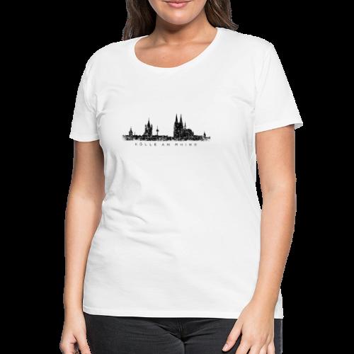 Kölle am Rhing Skyline (Vintage Schwarz) S-3XL Köln T-Shirt - Frauen Premium T-Shirt