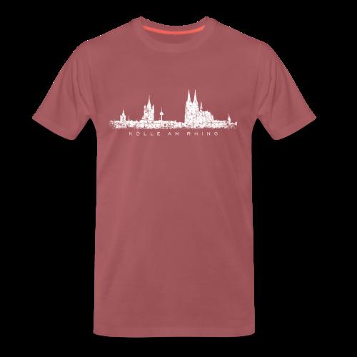 Kölle am Rhing Skyline (Vintage Weiß) S-5XL Köln T-Shirt - Männer Premium T-Shirt