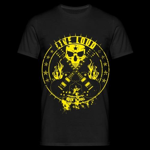 Live Loud, Rock ´n` Roll - Männer T-Shirt