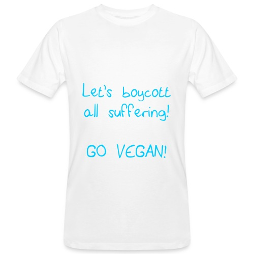 mens T-shirt boycott all suffering white/blue - Men's Organic T-Shirt