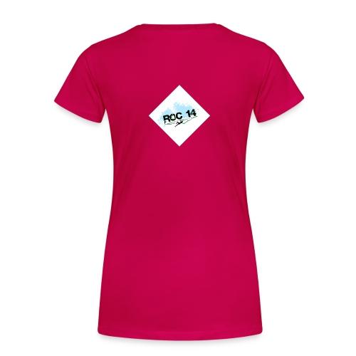 tee shirt femme col rond rubis - T-shirt Premium Femme