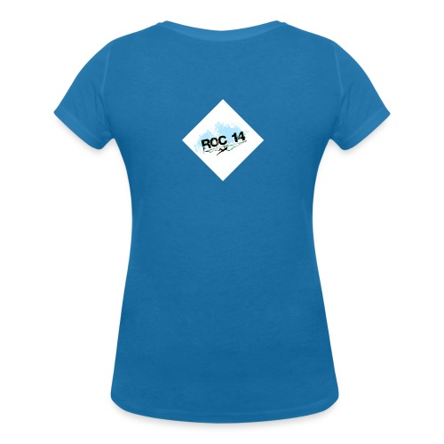 tee shirt femme col V bleu paon - T-shirt bio col V Stanley & Stella Femme