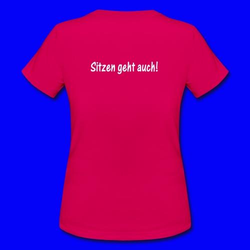 ik muss nicht im mittelpunkt stehen sitzen geht auch - Women's T-Shirt