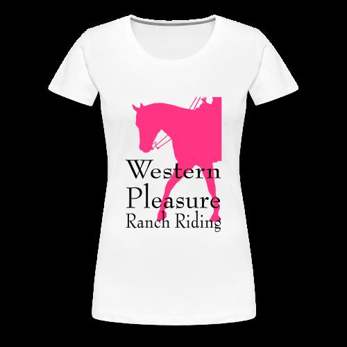 Motiv-166-Neonpink/Schwarz - Frauen Premium T-Shirt