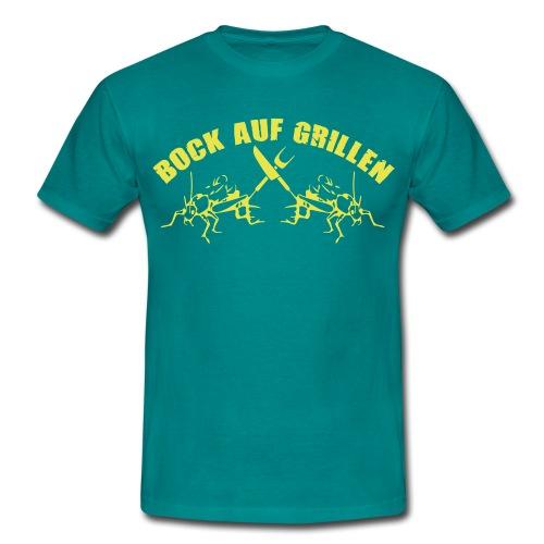 Bock auf Grillen - Männer T-Shirt