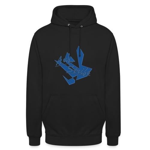Auf Streife Pullover in blau - Unisex Hoodie